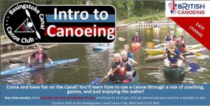 BCCC Daytime Introduction to Canoeing Course @ Canal Centre